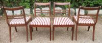 Set  Four Regency Style Mahogany Dining Chairs